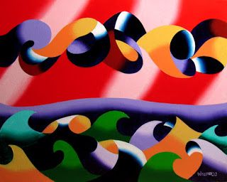 Mark Webster - Abstract Geometric Ocean Seascape Oil Painting 2013-12-06
