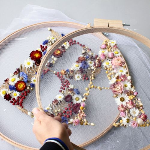 Floral Wreaths Blossom Into Bold Type