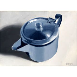 Mark Webster - Metal Teapot Still Life Oil Painting