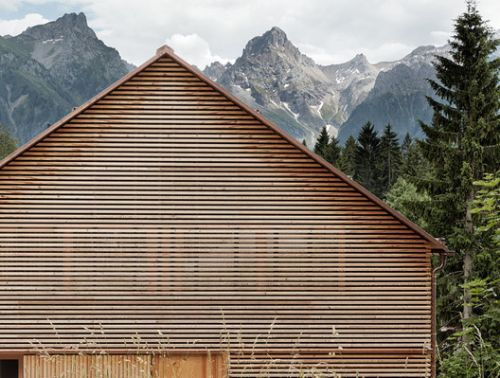 Wooden Slat Facades: Rhythm and Translucency