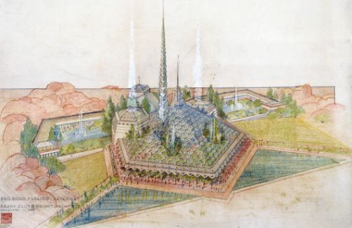 One of Frank Lloyd Wright's Unpublished Projects Revealed to the Public: the Arizona State Capitol
