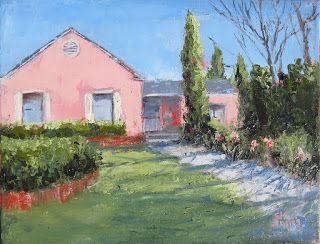 On a Sunny Day, New Contemporary Landscape Painting by Sheri Jones