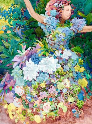 """""""Topiary Twirl"""" Juried into 11th Annual Signature American Watermedia International Exhibit at the Fallbrook Art Center"""