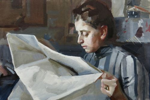 """After Anders Zorn's """"Emma Zorn Reading"""""""