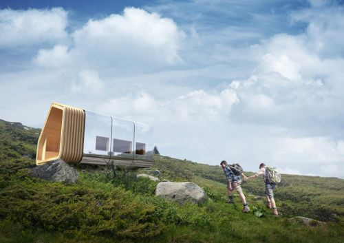 This Modular Mountain Shelter Is Net-Zero and Can Be Delivered via Helicopter