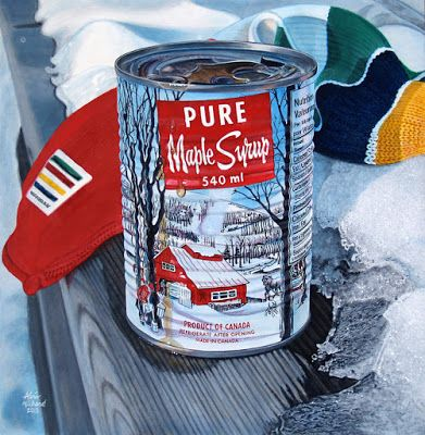 Pure Maple Syrup and Hudson Bay Company Scarf