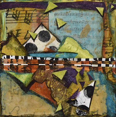 "BOGO SALE-Mixed Media Abstract Painting ""Sing to Me"" by Santa Fe Contemporary Artist Sandra Duran Wilson"