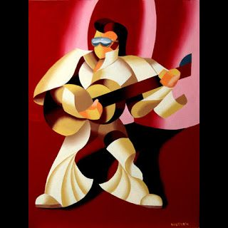 Mark Webster - Its Good to be the King - Abstract Geometric Figurative Oil Painting