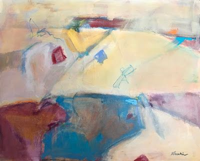"""Contemporary Abstract Expressionist Fine Art Painting """"New Beginnings"""" by Oklahoma Artist Nancy Junkin"""