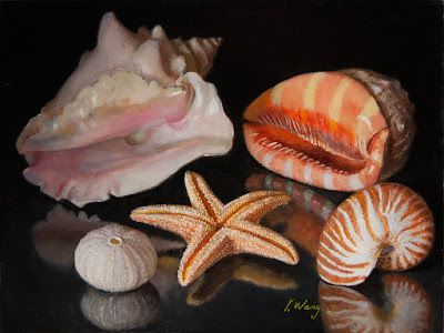 Seashells oil painting a day