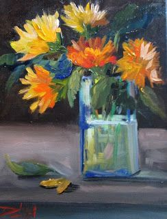 Yellow and Orange Floral Still Life