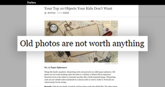 'Old Photos Are Not Worth Anything'