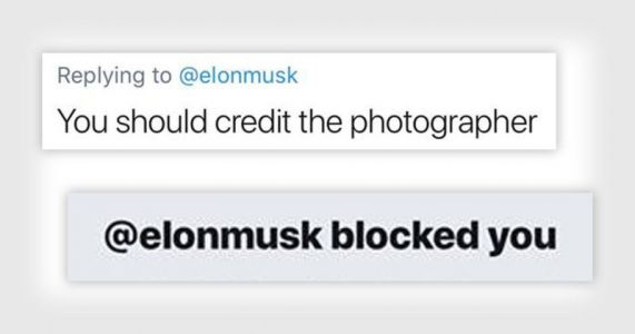 Elon Musk is Blocking People Who Say Photographers Should Be Credited