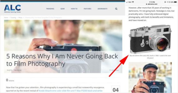 Adorama Angers Film Photographers with Article and 'Stolen' Photo