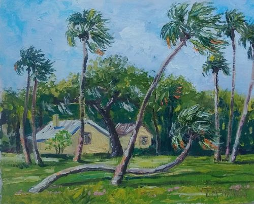1786 Breezy Day at Becker Preserve plein air alla prima