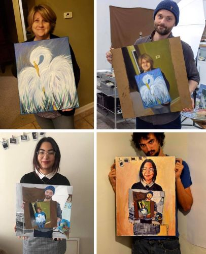 A Recursive Series of Paintings Inspired by One Woman's Second-Ever Work of Art