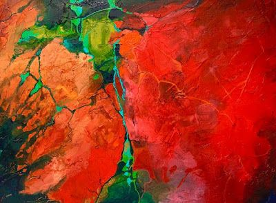 "Red Art, Abstract Art,Contemporary Painting, Fine Art Print ""Show Me"