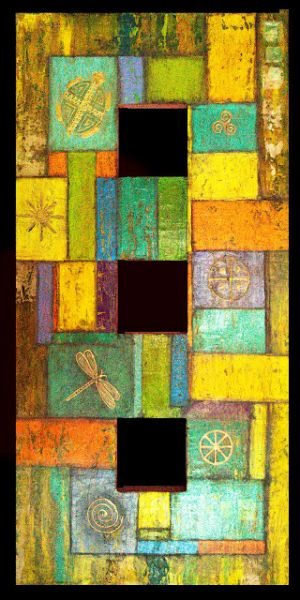 """Contemporary Art, Mixed Media, Abstract Art Painting """"Color Renovar"""" by Arizona Artist Pat Stacy"""