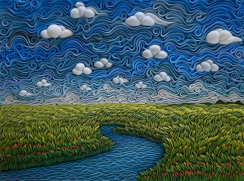 Swirls of Air-Dry Clay Compose Vibrant Sculptural Landscapes