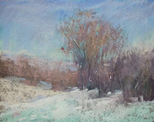 My Favorite Tip for Painting Snow in Pastel
