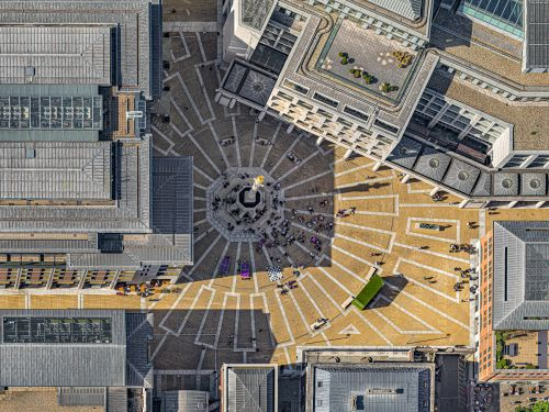 London's Imperfect Geometry Revealed in Aerial Photography by Bernhard Lang