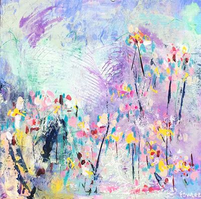 "Colorful Contemporary Abstract Expressionist Fine Art Painting ""BUTTERCUP"