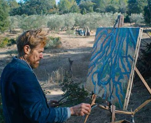 Yes, Julian Schnabel painted the Van Goghs
