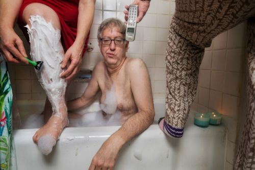 A Photographer's Hilarious Photos of Being Stuck in Quarantine with Ex-Wife and Mother