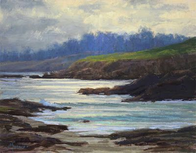 Pebble Beach Glare 14x11 pastel