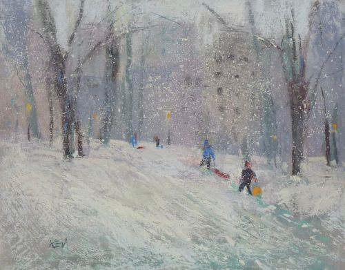 Painting a Winter Landscape 6 Easy Steps