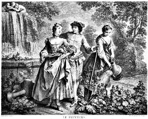 1745 Allegory of Spring in a Garden