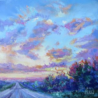 Loud and Proud Clouds, New Contemporary Landscape Painting by Sheri Jones
