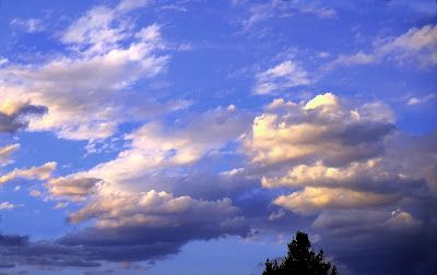 """Nature Fine Art Photography, Clouds, Sly, """"Colorado Sunset May 3'20"""" by Colorado Photographer Kit Hedman, Boarding House Studio Galleries, Denver"""