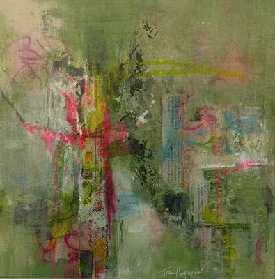 """Mixed Media, Abstract Art, Contemporary Painting, Expressionism, """"Tranquility"""" by Contemporary Artist Tracy Lupanow"""