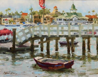 Dock & Dinghy -a plein air painting from Balboa Island