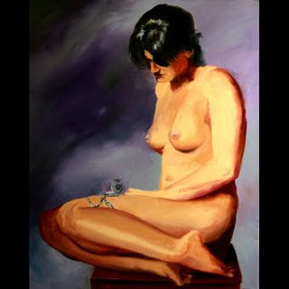 Mark Webster Artist - Katja 227.6 Nude Figurative Oil Painting