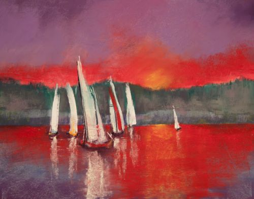 """Sailing at Sunset"""