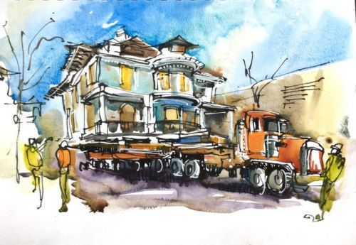 San Jose's Historic Scheller House on the Move