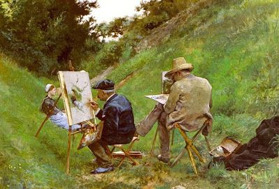 'The Two Painters' by Aranda