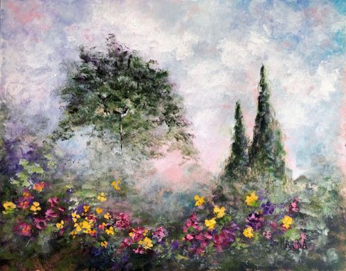 SEPTEMBER MIST ~ Original Plein Air Acrylic Painting by Marina Petro