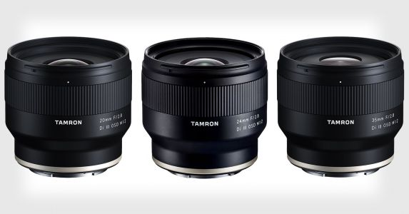 Tamron Unveils Three 1:2 Wide-Angle Prime Lenses for Sony E-Mount