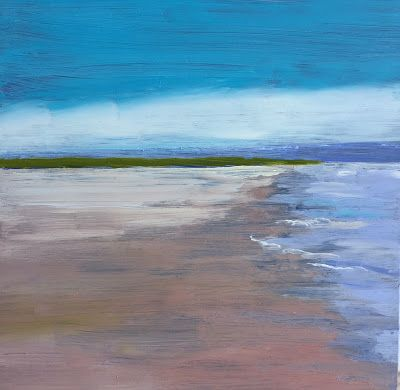 "Contemporary Beach Scene, ""Low Tide,"" by Amy Whitehouse"
