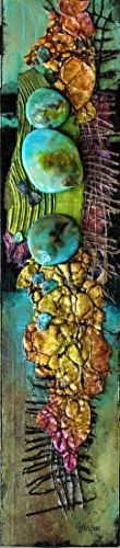 """Mixed Media Geologic Abstract Art Painting """"EXTREME ABSTRACTS DEMO"""" by Colorado Mixed Media Artist Carol Nelson"""