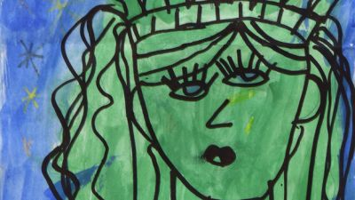 A First-Grader's Picasso-Like Painting Is Now Hanging At The Met