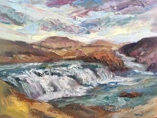 New Iceland Oil Painting by Contemporary Impressionist Niki Gulley