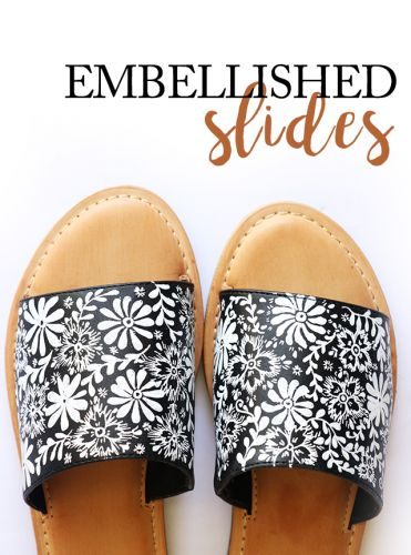 Embellished slides