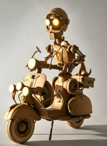 Extraordinarily Intricate Cardboard Robots by Greg Olijnyk Feature Embedded Lights and Moveable Limbs