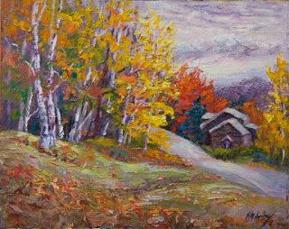 """Autumn Hideaway"" by Contemporary Impressionist Niki Gulley"