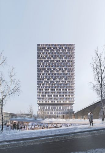 3XN and IttenBrechbühl Win International Competition to Design Wooden Tower in Lausanne, Switzerland