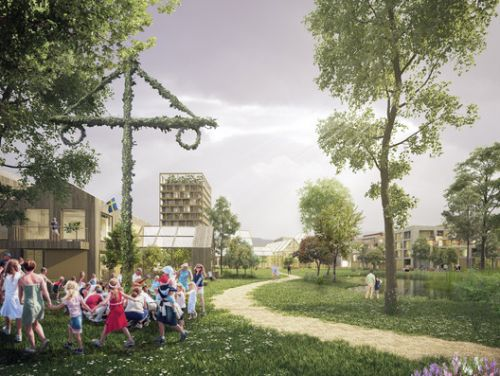 Henning Larsen Reimagines the Garden City Model in Sweden